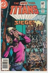 New Teen Titans(vol. 1) # 35 Cyborg plays Hostage Negotiator !