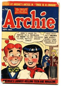 Archie #70 1954 Betty and Veronica Jughead Golden-Age G