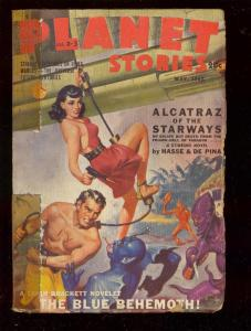 PLANET STORIES-MAY 1943-ROZEN-LUBBERS-HANNES BOK-PULP   G