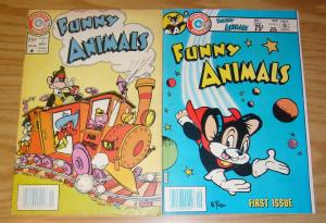 Funny Animals #1-2 complete series - charlton comics - atomic mouse - 1984 set