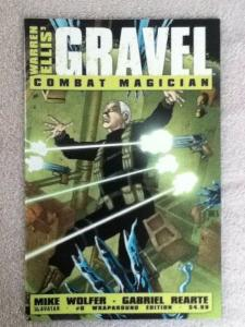 GRAVEL: COMBAT MAGICIAN #0 WRAP and #4 REGULAR COVER- Created by Ellis