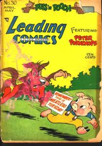 LEADING COMICS #30 PETER PORKCHOPS FUNNY ANIMALS DC '48 P/FR