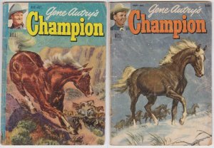 Gene Autry's Champion #3, 8 (1953) Dell Comic Western Lot