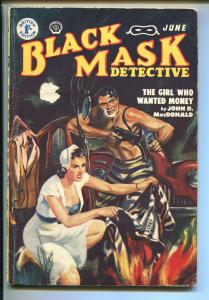 BLACK MASK-06/1952-POPULAR-HARD BOILED-PULP-DETECTIVE-SAUNDERS-MACDONALD-vg-