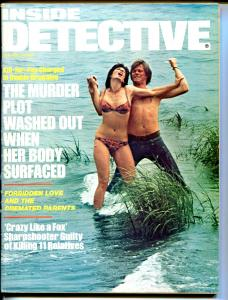 Inside Detective 10/1975-Dell-Forbidden Love-strangulation cover-lurid-FN