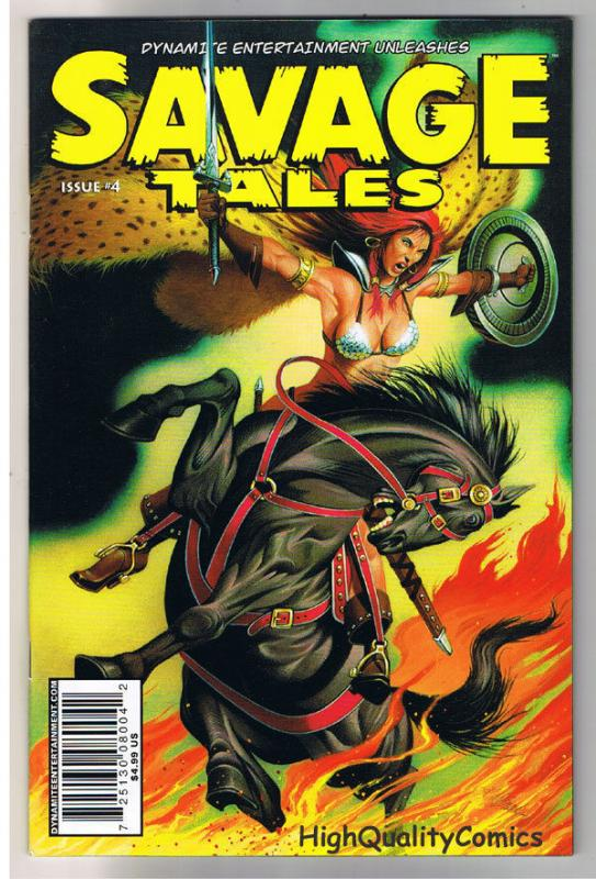 SAVAGE TALES #4, NM, David Beck, Red Sonja, Femmes, 2007, more RS in store