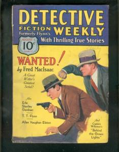 DETECTIVE FICTION WEEKLY PULP-8/1/31-FRED MacISAAC--ESG VG