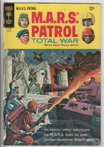 M.A.R.S. Patrol Total War #6 (Aug-68) VF+ High-Grade M.A.R.S. (Sgt. Joe Strik...