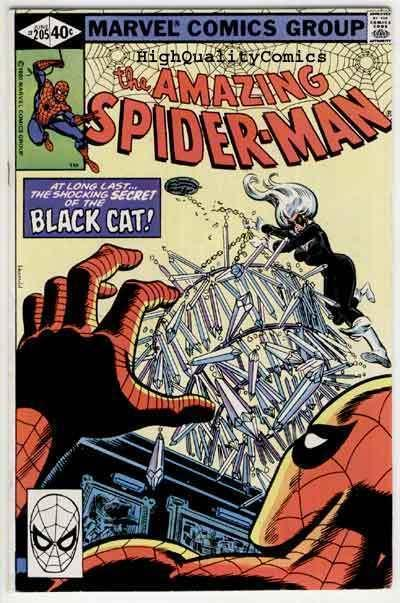 SPIDER-MAN #205, VF, Black Cat, Wolfman, Amazing, 1963, more ASM in store