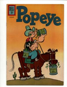 Popeye # 62 FN Dell Silver Age Comic Book 1961 Olive Oil Cartoon Spinach J371