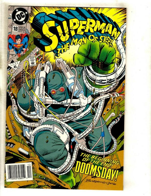 9 Comics Superman Man Of Steel 18 19 22 23 74 75 Adventures 497 Action 684 + FM8