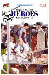 Triple-A Baseball Heroes #2 2008- Marvel Comics RARE Buffalo Bisons Signed!!