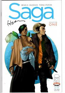 SAGA #1 SIGHNED FIONA STAPLES WITH COA $150.00 THIRD PRINT