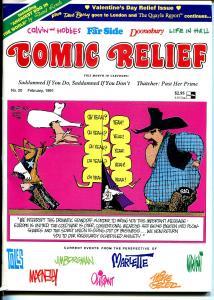 Comic Relief #20 1991-Calvin & Hobbes-political cartoons-Toles-Doonesbury-FN/VF