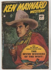 Ken Maynard Western #7 (Dec-51) VG+ Affordable-Grade Ken Maynard
