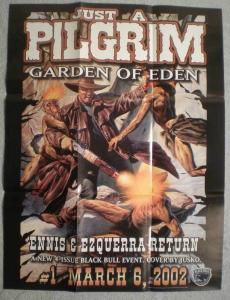 JUST A PILGRIM Promo poster, Joe Jusko, 19x25, Unused, Garth Ennis