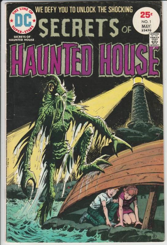 Secrets of Haunted House #1 (May-75) FN Mid-Grade