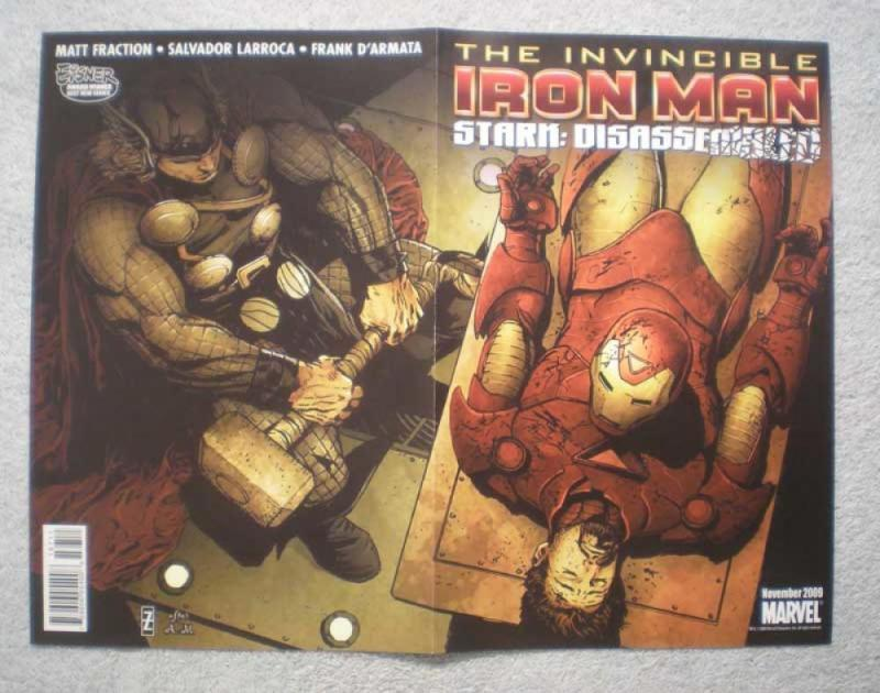 IRON MAN THOR X-MEN Promo Poster, 10x13, 2009, Unused, more Promos in store, E&a