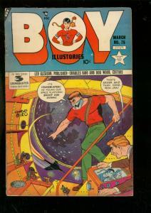 BOY COMICS #75 1952-CHARLES BIRO-SCIENCE FICTION ISSUE FR