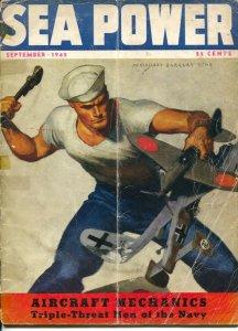 Sea Power 9/1942-McClelland Barclay cover art-war pix &info-1st American offe...