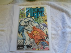 1986 MARVEL COMIC ALPHA FLIGHT # 38