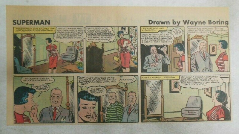 Superman Sunday Page #1146 by Wayne Boring from 10/1/1961 Size ~7.5 x 15 inches