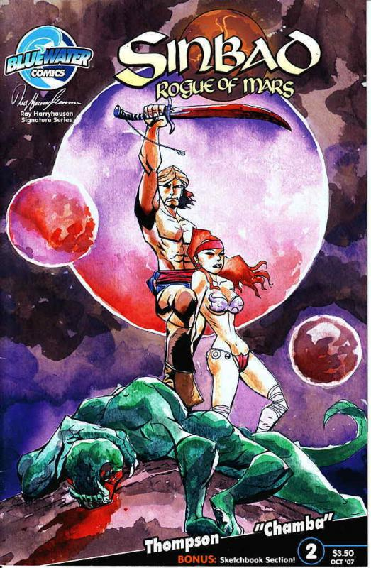 Sinbad: Rogue of Mars #2B VF/NM; Bluewater   save on shipping - details inside