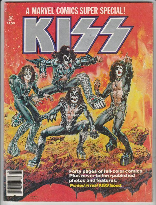 Marvel Comics Super Special Kiss #1 (Jan-77) VF+ High-Grade KISS