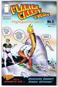 FLAMING CARROT #3, NM+, Bob Burden, Ut, Dynamite Girl, 2005, more FC in store