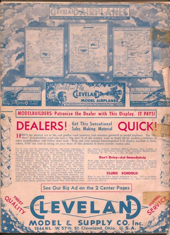 Model Airplane News 11/1935-Jay-futuristic plane cover-Josef Kotula-G
