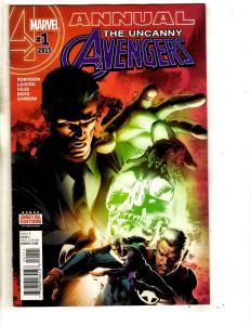Lot Of 4 Uncanny Avengers Marvel Comic Books Annual # 1 + # 2 3 4 Hulk Thor CA2