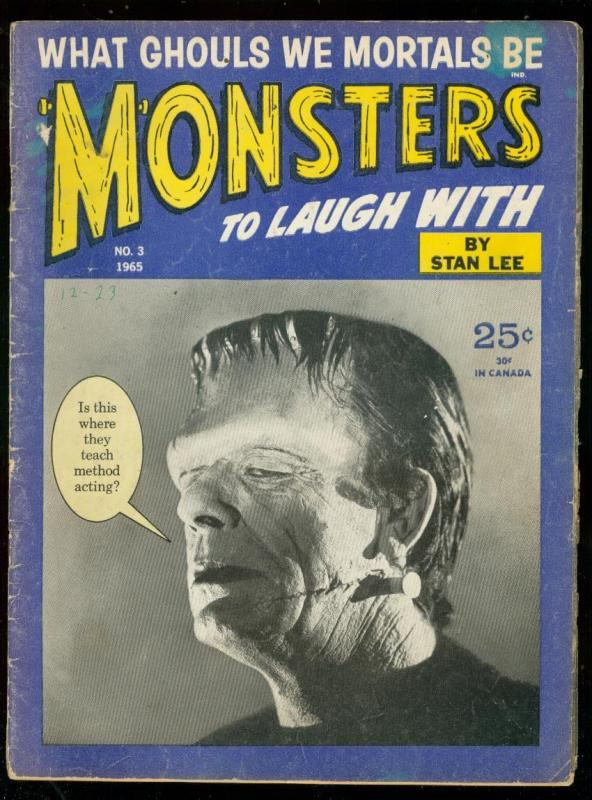 MONSTERS TO LAUGH WITH #3 1965-FRANKENSTEIN-STAN LEE G