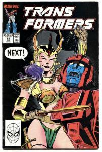 TRANSFORMERS #53-1989-JIM LEE COVER-MARVEL-RARE-fn