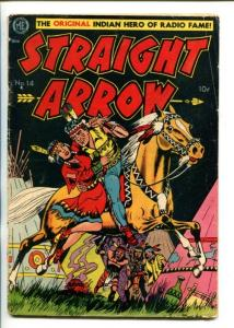 STRAIGHT ARROW  #14-1951-ME-CLASSIC INDIAN MAIDEN RESCUE COVER-MEAGHER ART-vg