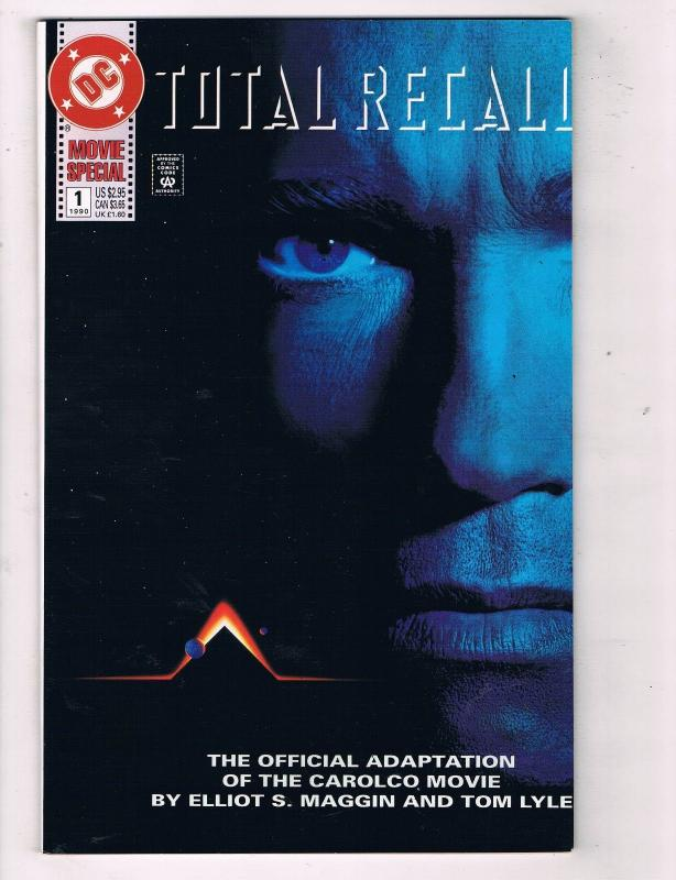 Total Recall #1 VF DC Comics Movie Special Modern Age Comic Book 1990 DE47 AD33