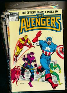 MARVEL set of 7- OFFICIAL INDEX TO THE AVENGERS #1-#7 1987/'88 VF (PF741)