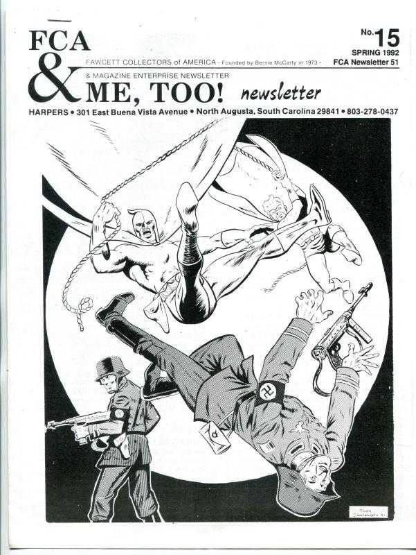 FCA & ME, Too Newsletter #15 1992- Fawcett & ME comic fandom FN