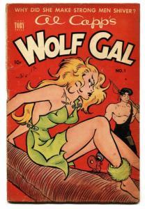AL CAPP'S WOLF GAL #1-1952-LI'L ABNER-GOOD GIRL ART-TOBY PRESS