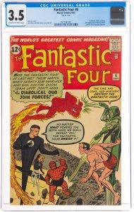 Fantastic Four #6 (Marvel, 1962) CGC Graded - 3.5