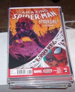 Amazing Spider-Man #  8 ( 2014, Marvel)  edge of spider-verse  spider-girl +silk