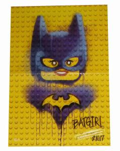 Lego Batman Movie Batgirl Folded Promo Poster DC 2017 (11.5 x 17) - New!
