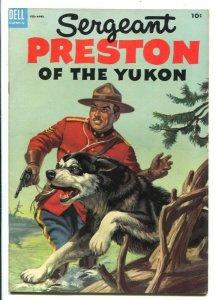 Sergeant Preston of the Yukon #10 1954 -Dell-based on TV series-Alberto Giole...