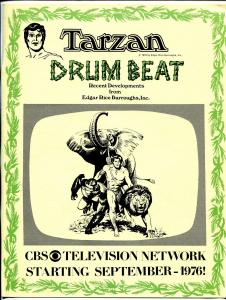 Tarzan Drum Beat #3 1976-Edgar Rice Burroughse-Russ Manning art- FN
