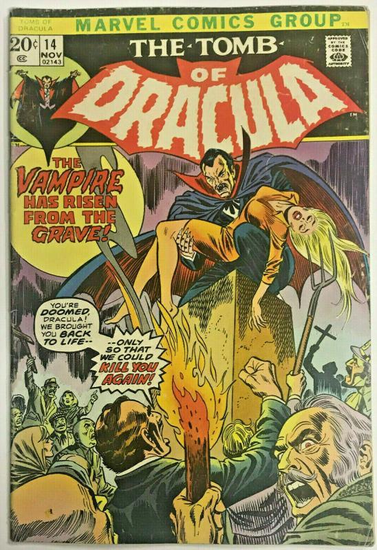 TOMB OF DRACULA#14 VG/FN 1973 MARVEL BRONZE AGE COMICS