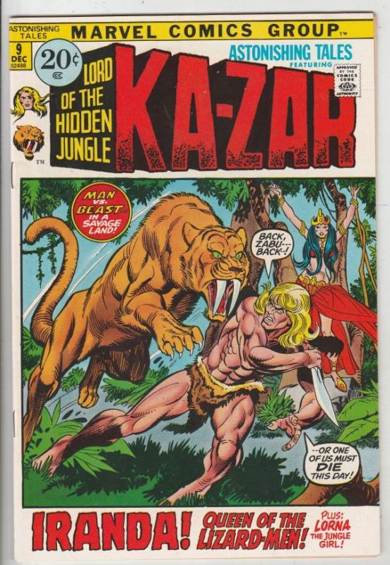 Astonishing Tales #9 (Dec-71) NM- High-Grade Ka-Zar, Doctor Doom