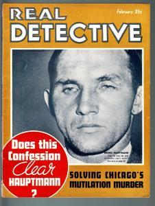 REAL DETECTIVE-1936 FEB-PULP TRUE CRIME-BOOZE BUCCANEERS v COAST GUARD VG/FN
