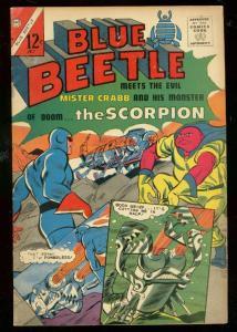 BLUE BEETLE VOL 3 #50 1965-CHARLTON COMICS-MISTER CRABB FN