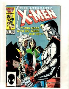 Uncanny X-Men # 210 NM- Marvel Comic Book Wolverine Sabretooth Cable Storm JF15
