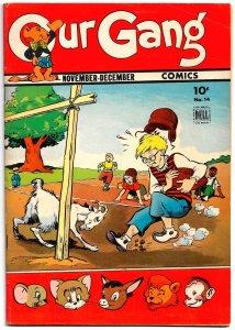 Gorgeous Copy! OUR GANG #14 (Nov1944) VF+ 16 pgs of WALT KELLY * CARL BARKS too!