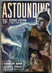 Astounding Pulp March 1939- Cloak of Aesir- Science Fiction VG/F
